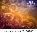 cell background with interface... | Shutterstock .eps vector #429154783