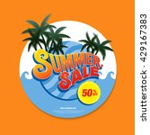 summer sale circle label | Shutterstock .eps vector #429167383