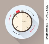 stopwatch in flat style with... | Shutterstock .eps vector #429175237