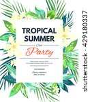 bright hawaiian design with...   Shutterstock .eps vector #429180337