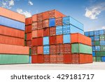 industrial port and container... | Shutterstock . vector #429181717