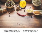 beautiful colorful spices in... | Shutterstock . vector #429192307