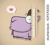 paper cartoon goat applique...   Shutterstock .eps vector #429193333