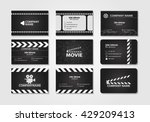 vector set of creative business ... | Shutterstock .eps vector #429209413