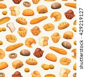 seamless bakery icons... | Shutterstock .eps vector #429219127