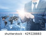 double exposure of businessman... | Shutterstock . vector #429228883