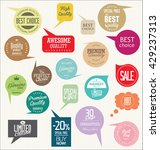 modern badges and labels... | Shutterstock .eps vector #429237313