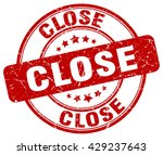 close. stamp | Shutterstock .eps vector #429237643