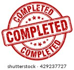 completed. stamp | Shutterstock .eps vector #429237727