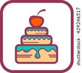 vector illustration of a cake... | Shutterstock .eps vector #429246517