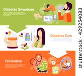 diabetes prevention symptoms... | Shutterstock .eps vector #429254083