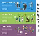 recruitment hr people... | Shutterstock .eps vector #429254197