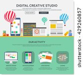 one page web design template... | Shutterstock .eps vector #429260857