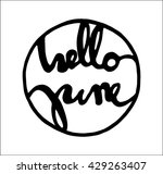 hello june quote. modern... | Shutterstock .eps vector #429263407