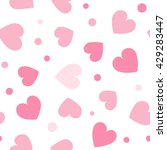 seamless hearts and dots... | Shutterstock .eps vector #429283447