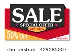 sale banner and best offer... | Shutterstock .eps vector #429285007