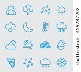 weather blue color line icon  | Shutterstock .eps vector #429287203