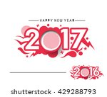 happy new year 2017 or 2016... | Shutterstock .eps vector #429288793