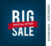 big sale. design template | Shutterstock . vector #429294043