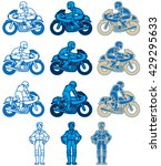 a blue color variations set at...