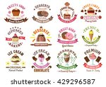 chocolate cakes and cupcakes ... | Shutterstock .eps vector #429296587