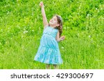 beautiful child girl with... | Shutterstock . vector #429300697