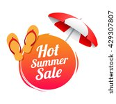hot summer sale label   Shutterstock .eps vector #429307807
