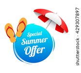 special summer offer label   Shutterstock .eps vector #429307897