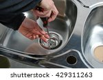 plumber repairing the drain of...   Shutterstock . vector #429311263
