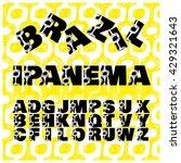 alphabet letters in brazil... | Shutterstock . vector #429321643