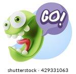 3d rendering smile character... | Shutterstock . vector #429331063