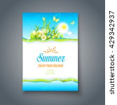 summer bright  card. nature... | Shutterstock .eps vector #429342937