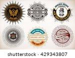 vintage logo templates  hotel ... | Shutterstock .eps vector #429343807