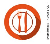 food icon. lunch icon. fork and ... | Shutterstock .eps vector #429351727