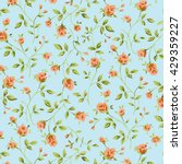 wallpaper vintage orange flower ... | Shutterstock . vector #429359227