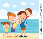 happy family summer vacation.... | Shutterstock .eps vector #429364267