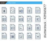 thin line document icon set...   Shutterstock .eps vector #429365677