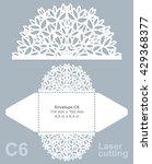 vector die cut envelope... | Shutterstock .eps vector #429368377