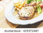 Pork Chops Steak Grill With...