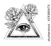 blackwork tattoo flash. all... | Shutterstock .eps vector #429380473