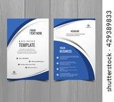 blue color business brochure | Shutterstock .eps vector #429389833