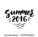summer 2016 card with hand... | Shutterstock .eps vector #429394603