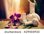 spa herbal compressing ball... | Shutterstock . vector #429403933