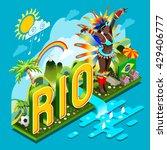 brasil rio summer games... | Shutterstock .eps vector #429406777