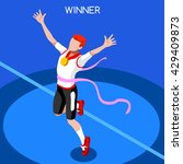 finish line running man... | Shutterstock .eps vector #429409873