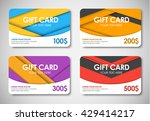 set of colored gift cards in... | Shutterstock .eps vector #429414217