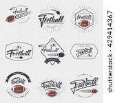 american football   badge ... | Shutterstock .eps vector #429414367