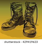 old army boots. military... | Shutterstock .eps vector #429419623