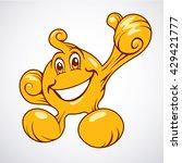 honey  glue  oil or ghost hero...   Shutterstock .eps vector #429421777