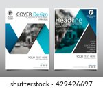 blue fold ribbon technology... | Shutterstock .eps vector #429426697